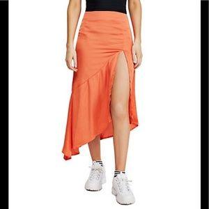Free people slit front midi skirt 4